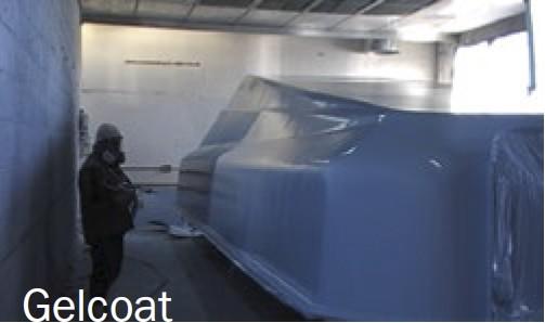 Installation et mise en place de gel-coat