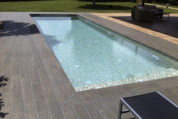 Constructeur piscine Perpignan Mosaique et pate de verre