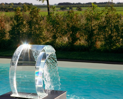 Fontaine piscine pour coque polyester
