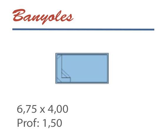 Piscine Rectangulaire 6,75 x 4,00 Profondeur 1,50