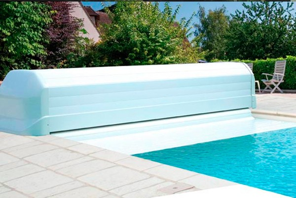 Volet automatique simple volet automatique hors sol open - Coffre volet roulant piscine ...