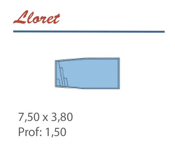Piscine Cintrée 7,50 x 3,80 Profondeur 1,50