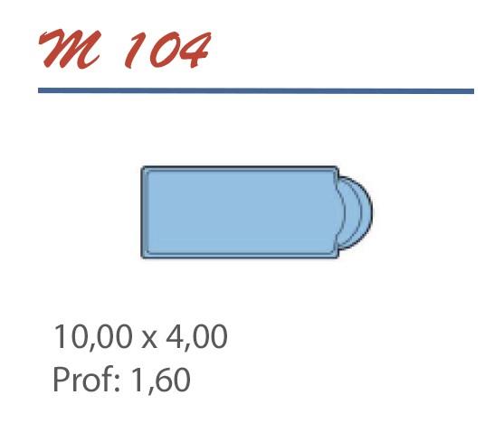 Piscine Romane 10,00 x 4,00 Profondeur 1,60