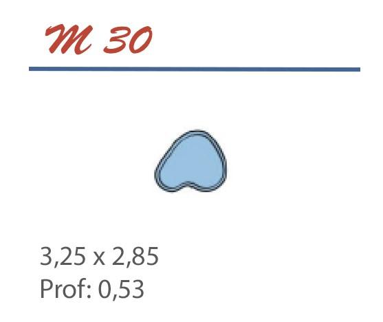 Piscine Bassin 3,25 x 2,85 Profondeur 0,53