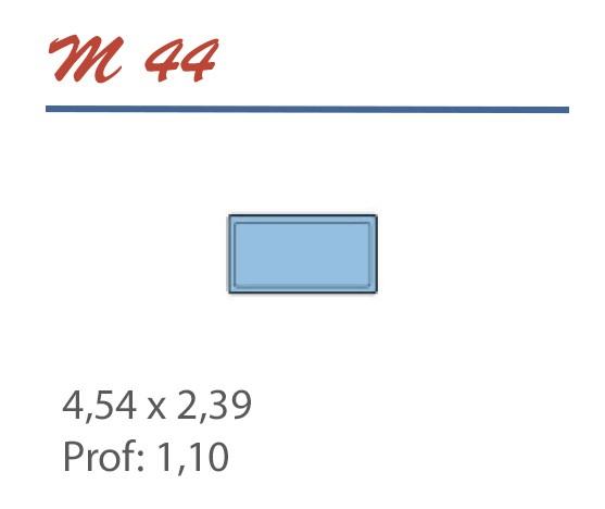 Piscine Rectangulaire 4,54 x 2,39 Profondeur 1,10