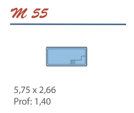 Piscine Rectangulaire 5,75 x 2,66 Profondeur 1,40