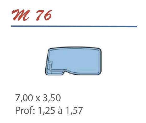 Piscine Libre 7,00 x 3,50 Profondeur 1,25 à 1,57