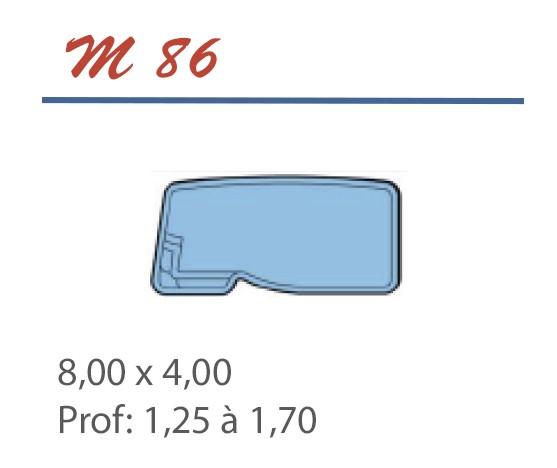 Piscine Libre 8,00 x 4,00 Profondeur 1,25 à 1,70