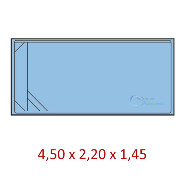 mini piscine rectangulaire coque